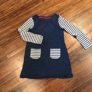 Mini Boden Navy Fun Pocket Jersey Dress Size 7-8